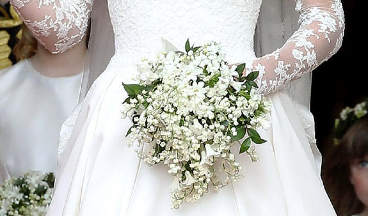Lily Of The Valley Wedding Bouquet: Kate Middleton's Wedding Dress Story