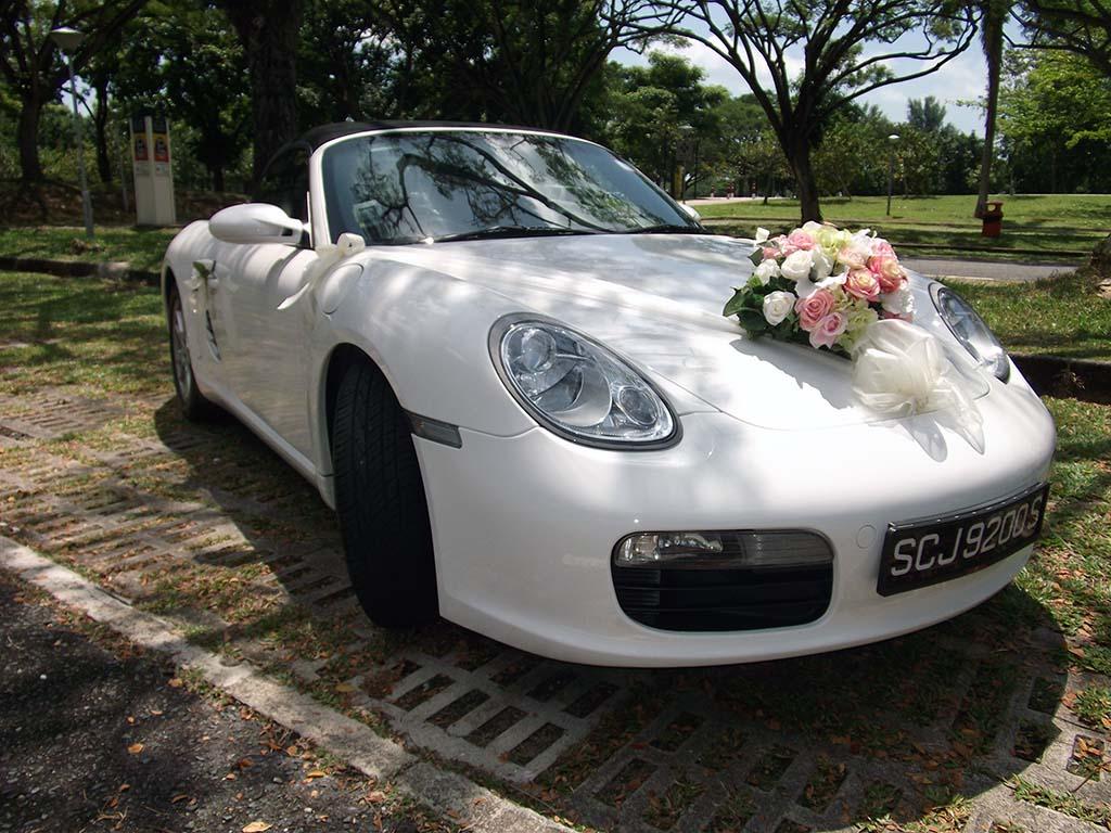 Wedding transportation white porsche boxster bridal car photo junglespirit Gallery