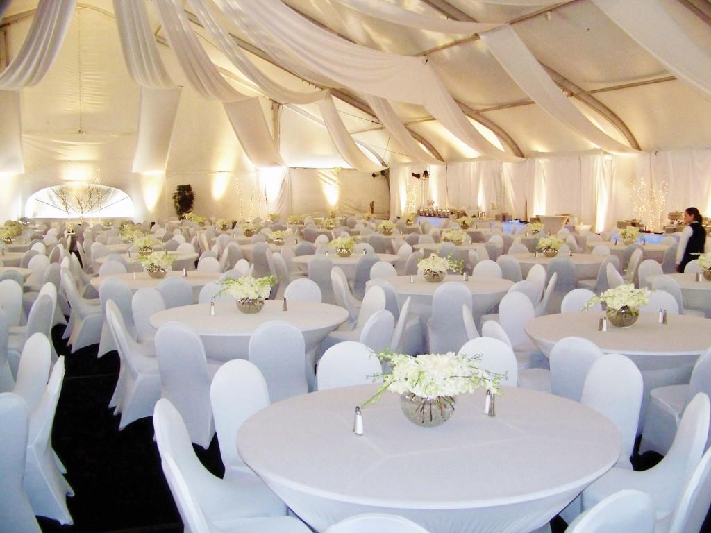 Tent Reception Setup