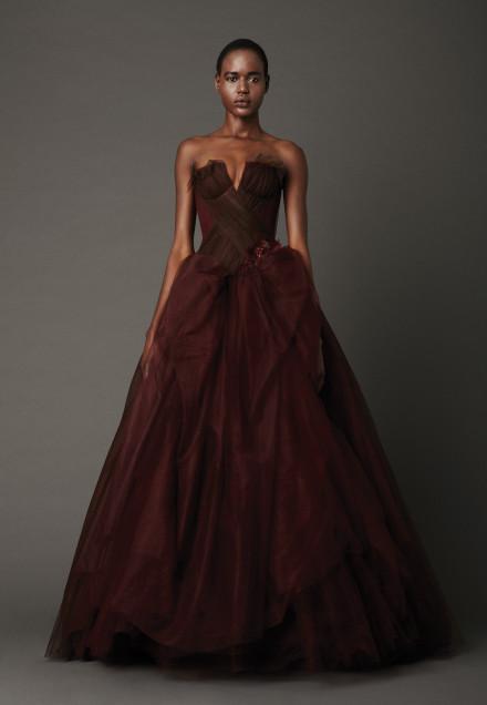 Vera Wang's marsala wedding dress