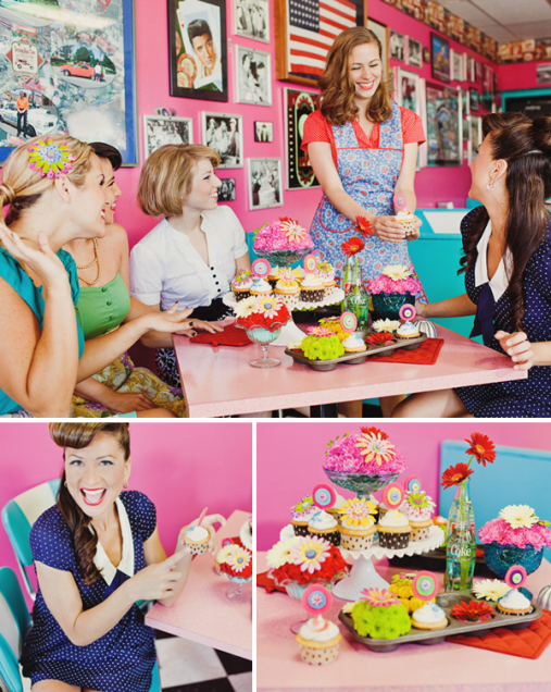 Girls just wanna have fun. A 1950s bridal shower.