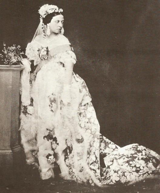 Queen Victoria on her wedding day, source Jane Austin's world