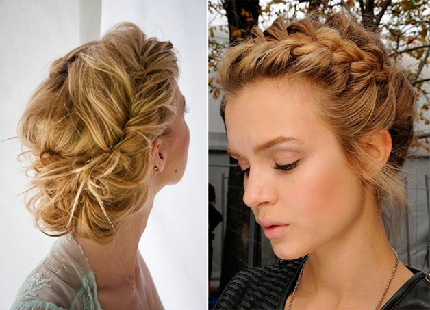 Casual-looking braided hairstyle