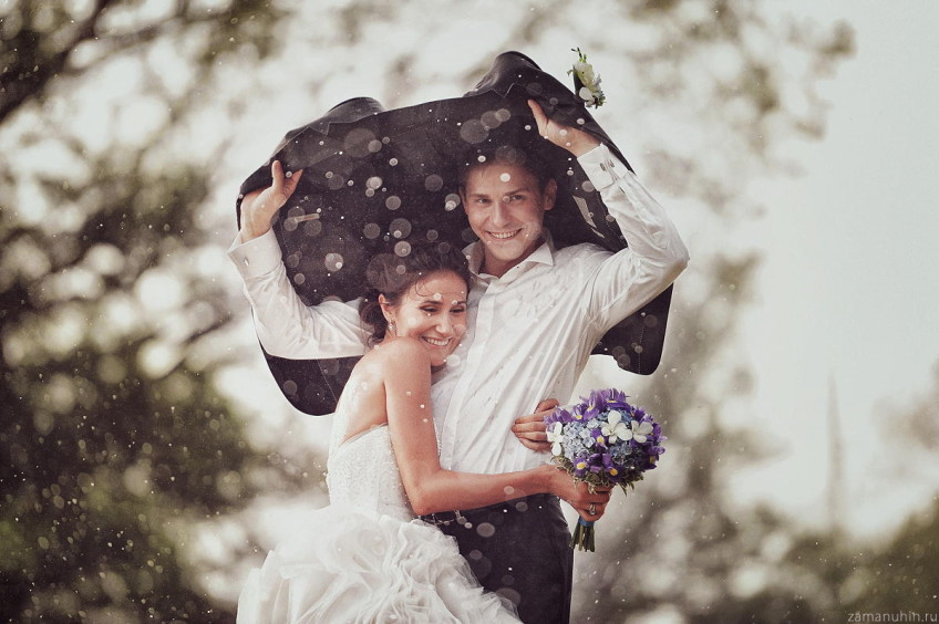 It's a good sign if it rains on you wedding day