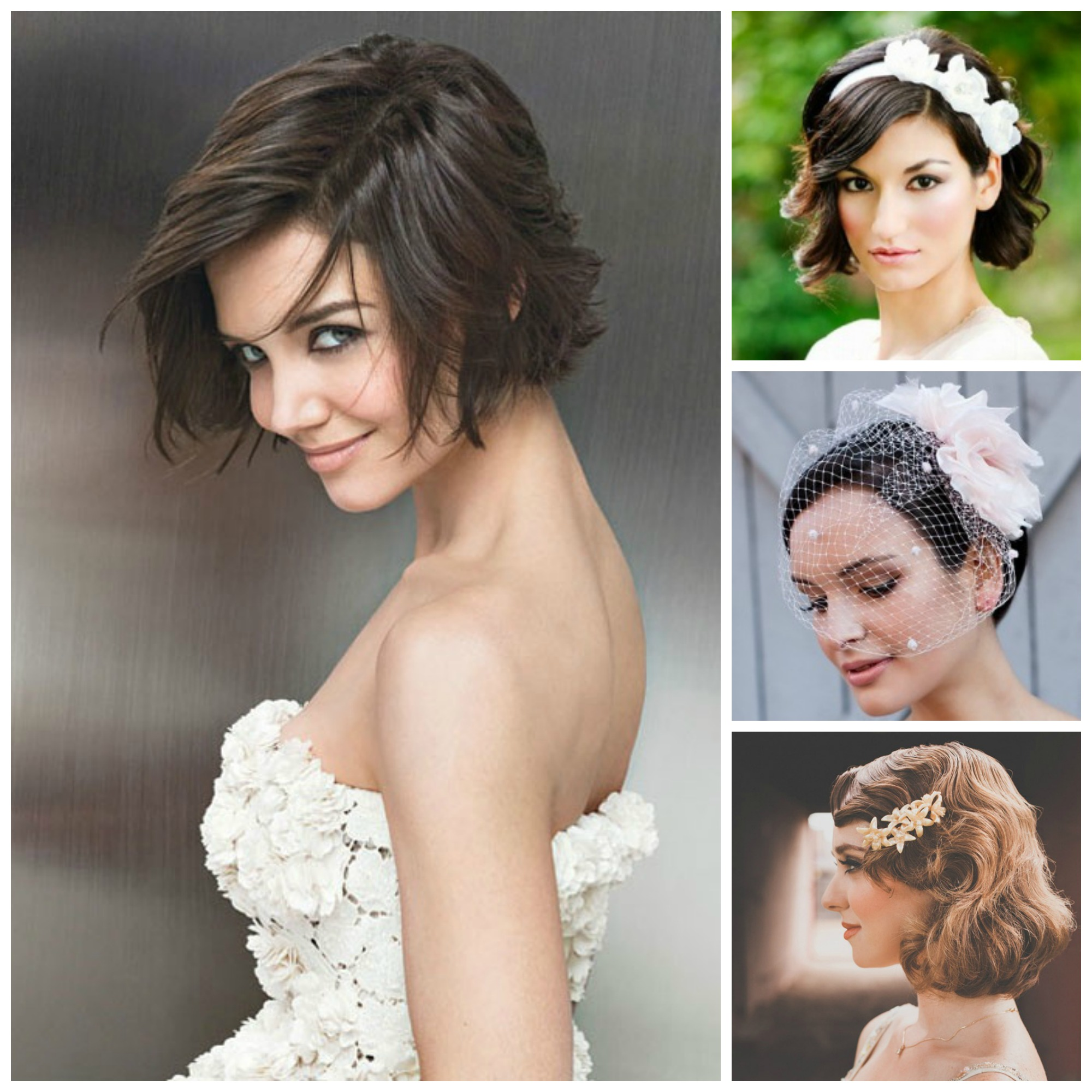 Short Hairstyle For Join Wedding: Bridal Hairstyles