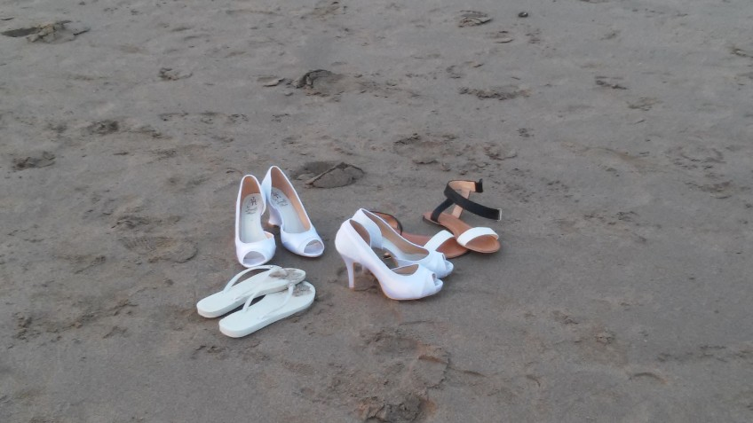Kick your shoes off - it's a beach wedding