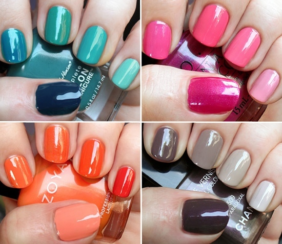 Try the ombre nails if you want to be a bit more sassy and daring.
