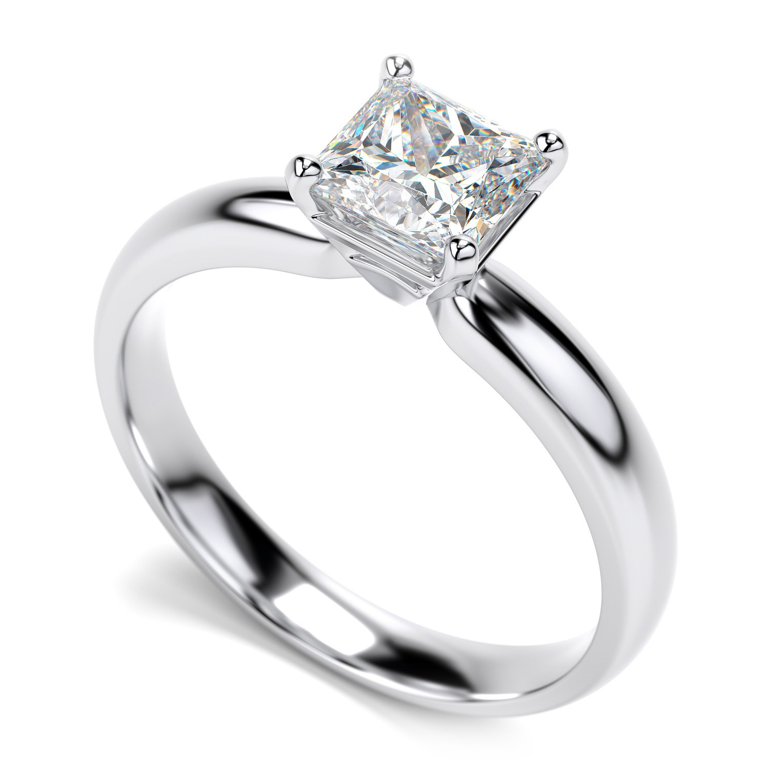 lord of the rings sirmione wedding - White Gold Princess Cut Wedding Rings