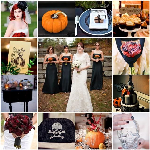 Elegant ideas for the Halloween wedding theme
