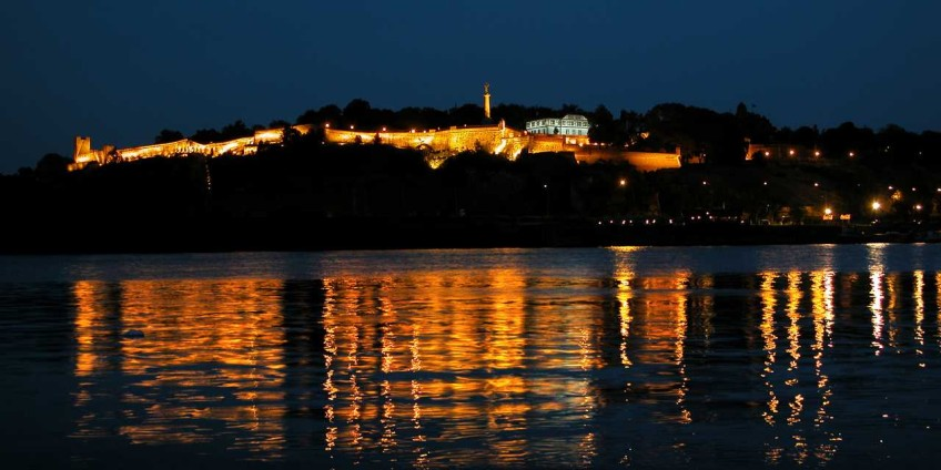 View of Kalemegdan by night. source: skyscrapercity.com