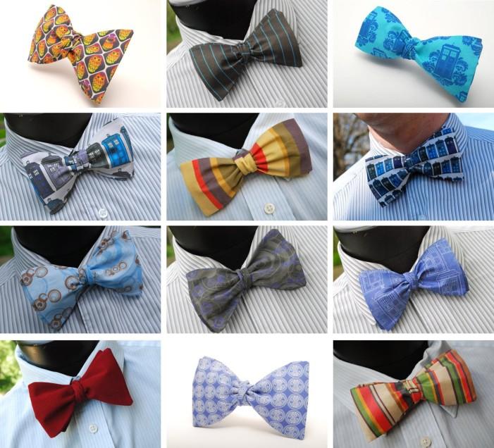 Color block bow ties