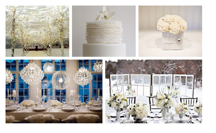 Winter decorations can also be romantic, rich and glamorous