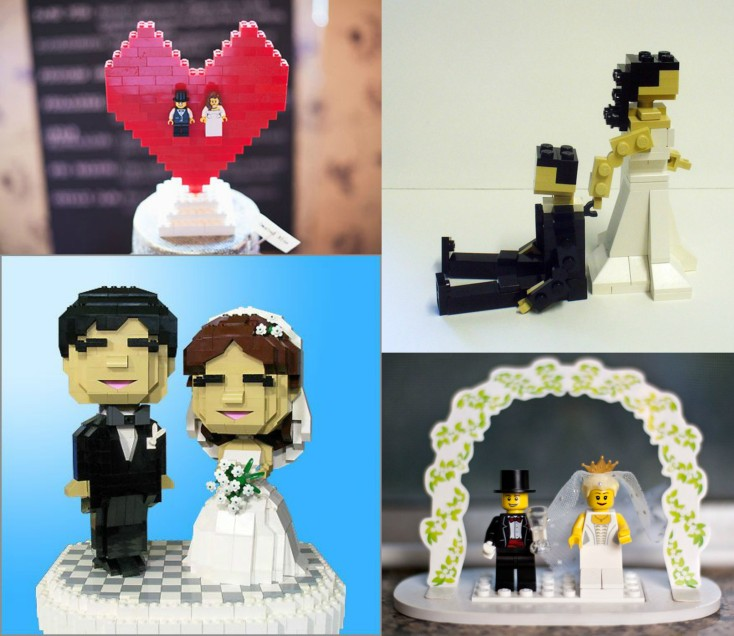 wedding cake toppers lego