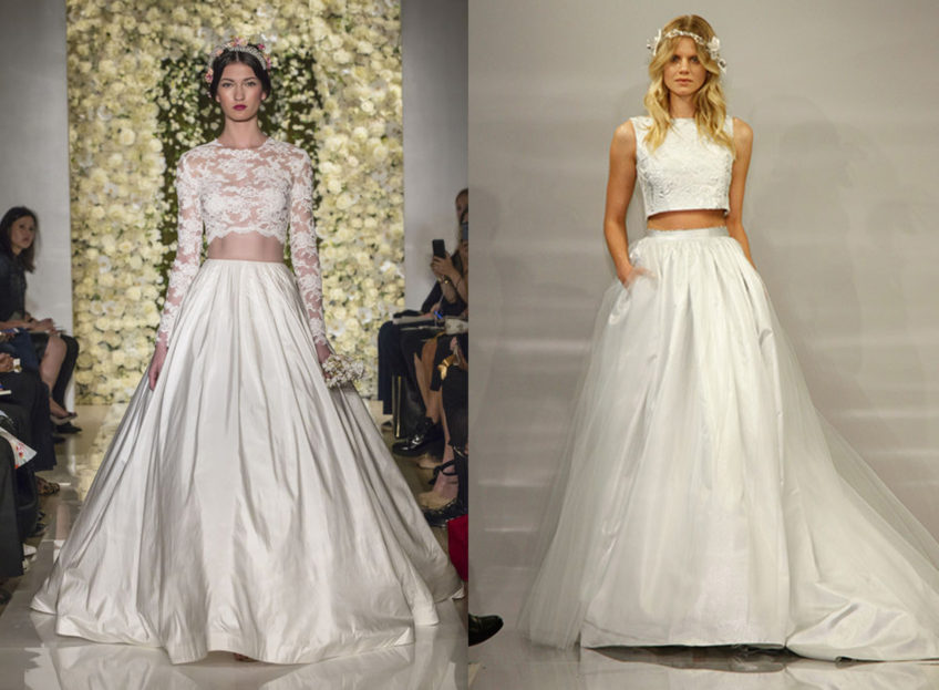 Fabulous two piece wedding dress sirmione wedding for Italian wedding dress designers list