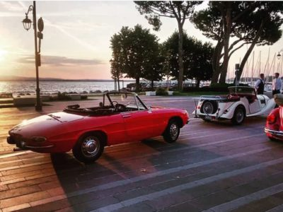 Picture car rental cars Desenzano sunset