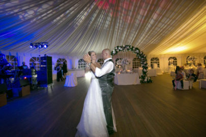 picture of newlyweds dancing with the songs for the wedding